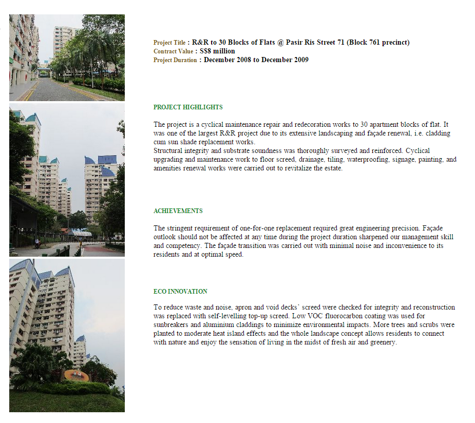 R&R To 30 Blocks Of Flats @ Pasir Ris Street 71