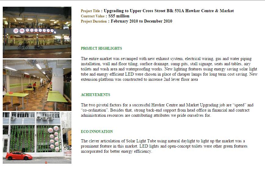 Upgrading Hawker Centra & Market